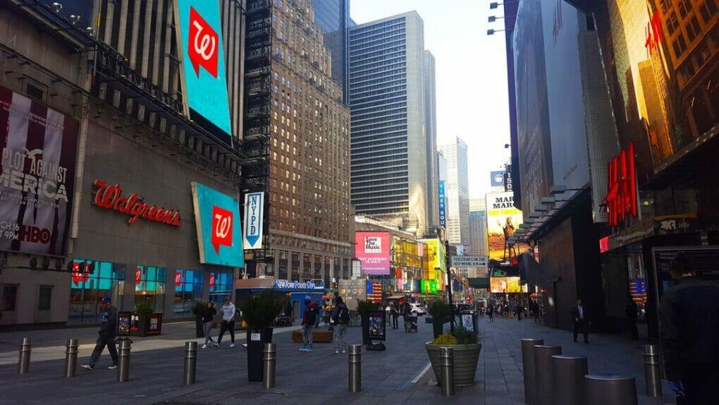 NY COVID-19 Lock down Times Square