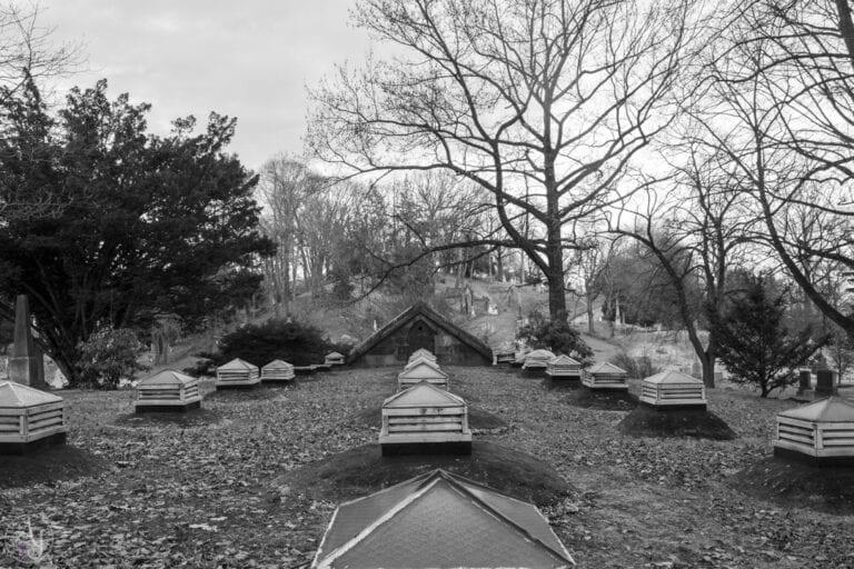 Green-wood cemetery skylight