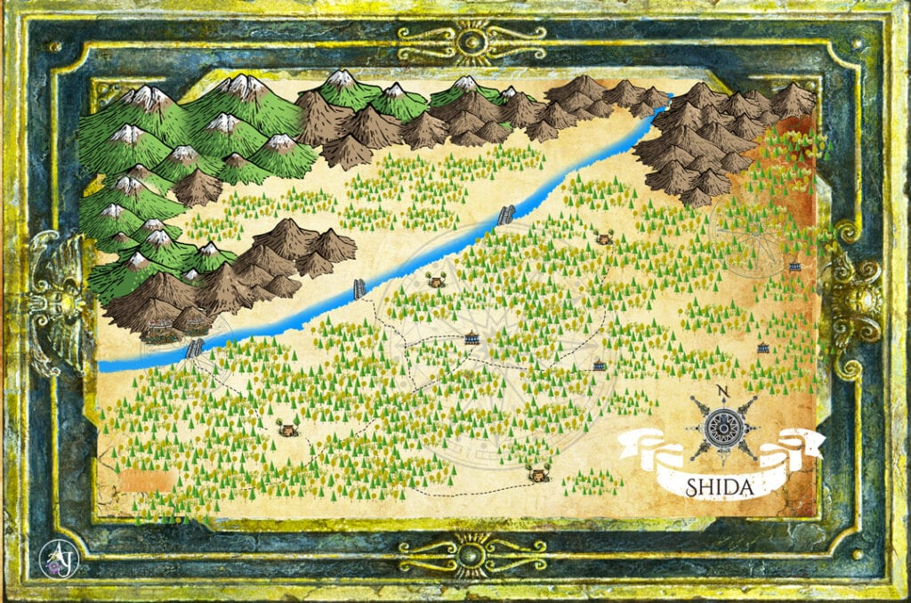 The Wailing Town fantasy cartography