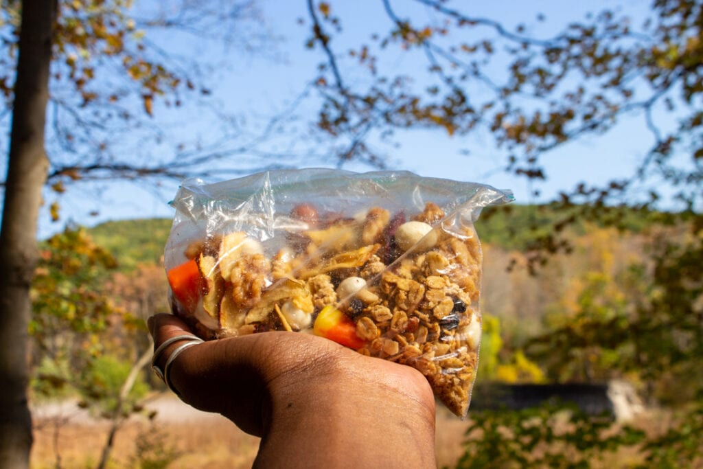 Food for the nature hiking trail