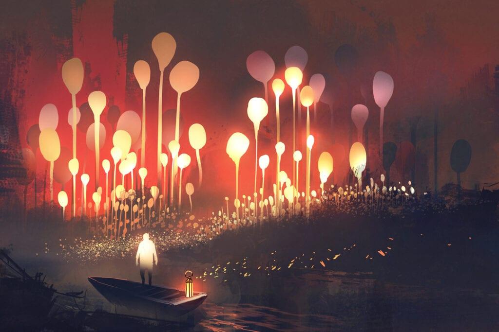 fantasy writing and world building underground city