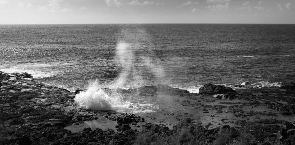 Spouting horn in Hawaii