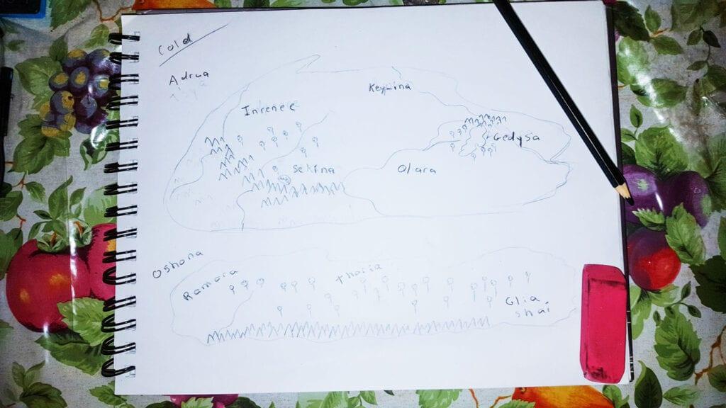 Fantasy map sketch