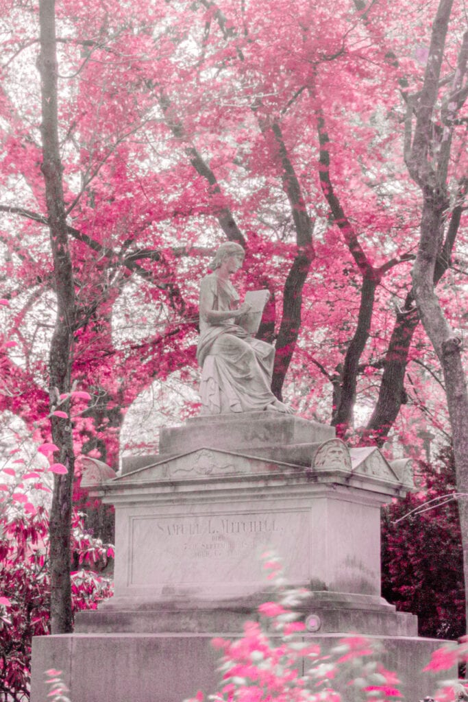 Cemetery Infrared Photography